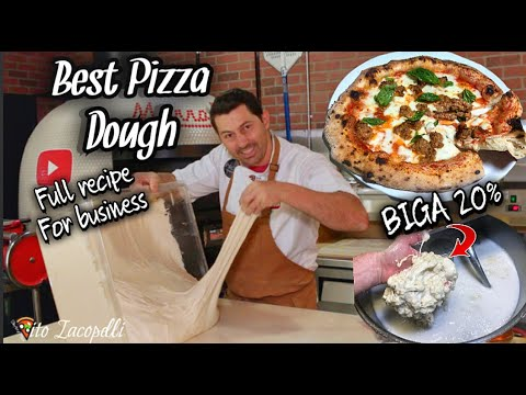 How To Make Best PIZZA DOUGH for Your Business (Full Recipe-BIGA)