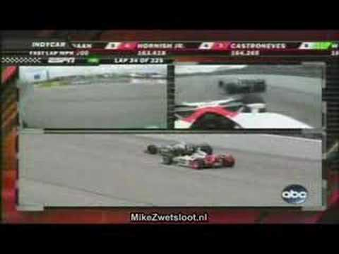 IRL 2007 - Milwaukee - Close battle, Hornish and Kanaan 2nd