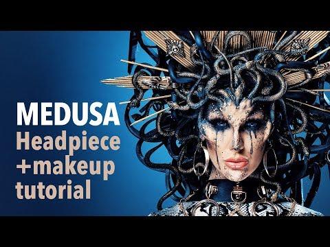 Medusa headpiece and makeup tutorial