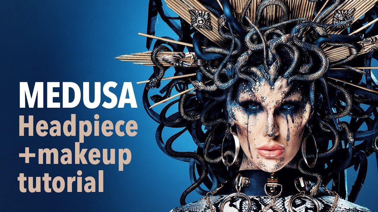 Download Medusa headpiece and makeup tutorial