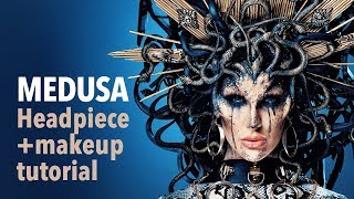 Medusa headpiece and makeup tutorial