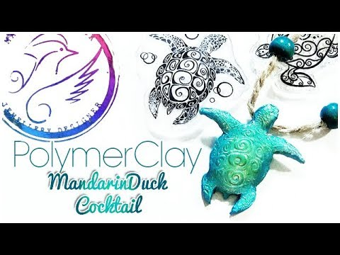 Comment MANDARIN DUCK COCKTAIL | MAORI TURTLE - Tortue maori POLYMERCLAY / TUTO FIMO ?