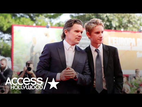 Ethan Hawke Brings His Doppelgänger Son To Venice Film Fest  Access Hollywood