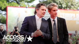 Ethan Hawke Brings His Doppelgänger Son To Venice Film Fest | Access Hollywood