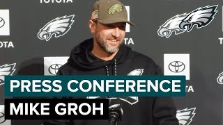 Mike Groh Talks Nick Foles, Mike Wallace, & More | Eagles Press Conference