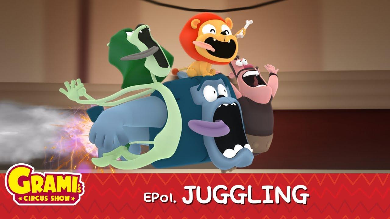 [Grami's circus show] EP 01, Juggling l Full HD l Animation   Full Video