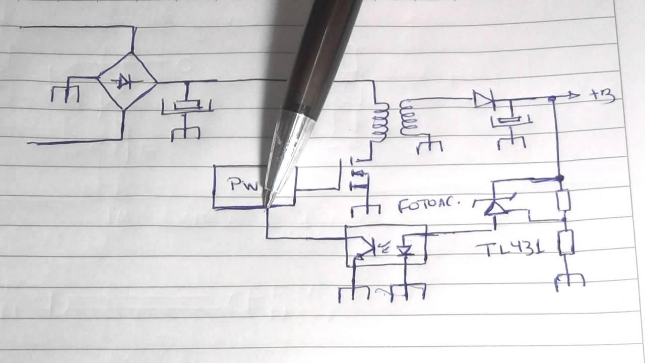 Circuito Optoacoplador : 079 fotoacoplador e tl431 na fonte chaveada youtube