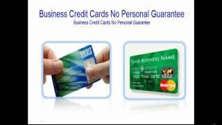 Business Credit Cards No Personel Gaurantee