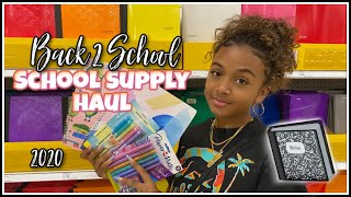 Back to School Supplies Shopping Haul 2020 (Senior Year) | LexiVee03