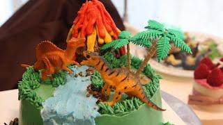 쥬라기 케이크 만들기? Jurassic cake dec…