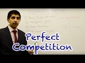 Y2/IB 15) Perfect Competition