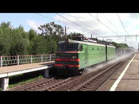 ВЛ10У-875 и ВЛ10-302 со сверхдлинным грузовым и ЭД4М-0193, пл. 95 км