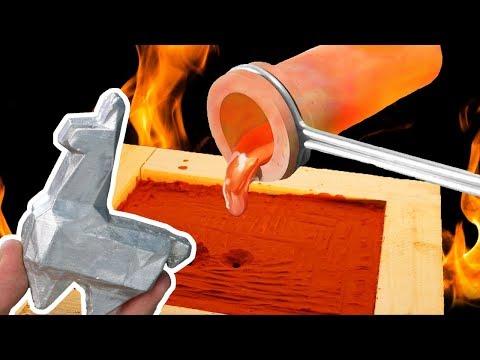 Aus geschmolzenem Aluminium einen Fortnite Raubzug Lama angefertigt - DiY