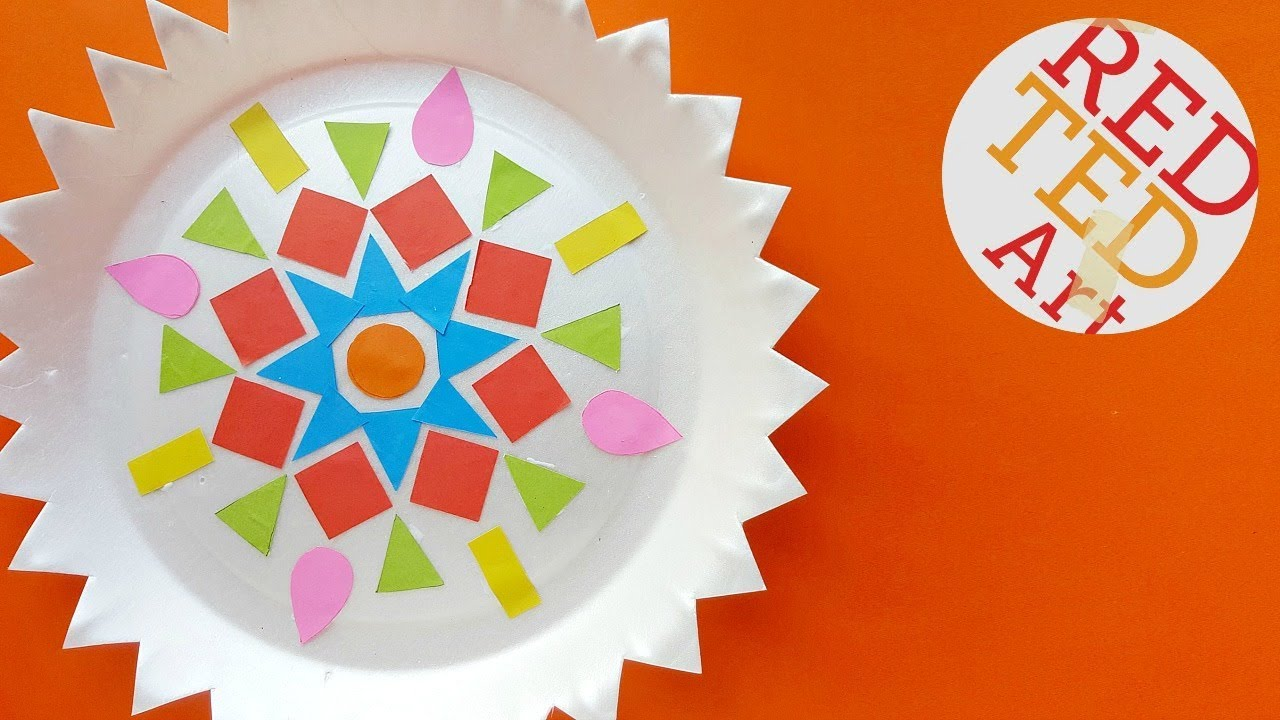Easy Rangoli Craft Easy Kids Diwali Youtube