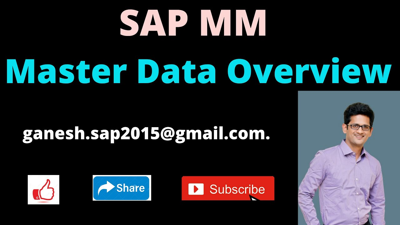 SAP MM Master Data Overview | SAP ERP Popular Videos in YouTube | SAP Free Videos in Online to learn