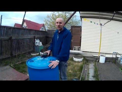 Как отрезать крышку от пластиковой бочки 200 литров. Легко!