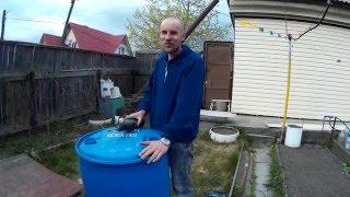 Как отрезать крышку от пластиковой бочки 200 литров. Легко!(, 2016-05-20T20:51:55.000Z)