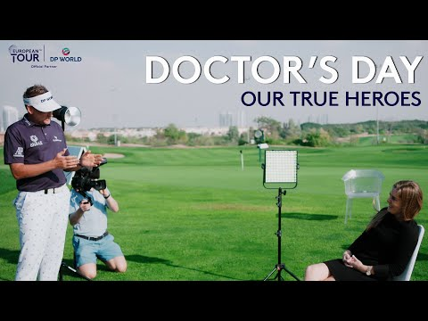 Four golfers surprise an amazing COVID-19 doctor