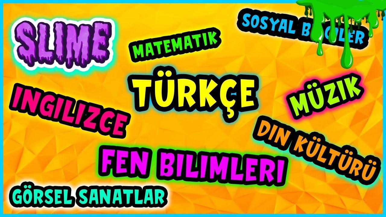 Derslerden Ne Çıkarsa Slime Challenge Okul Slaym Eğlenceli Oyun Videosu Vak Vak TV