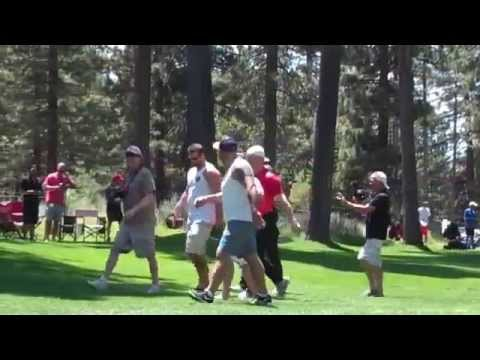 AJ Hawk Pancakes Fan At Lake Tahoe American Century Golf Event 2015