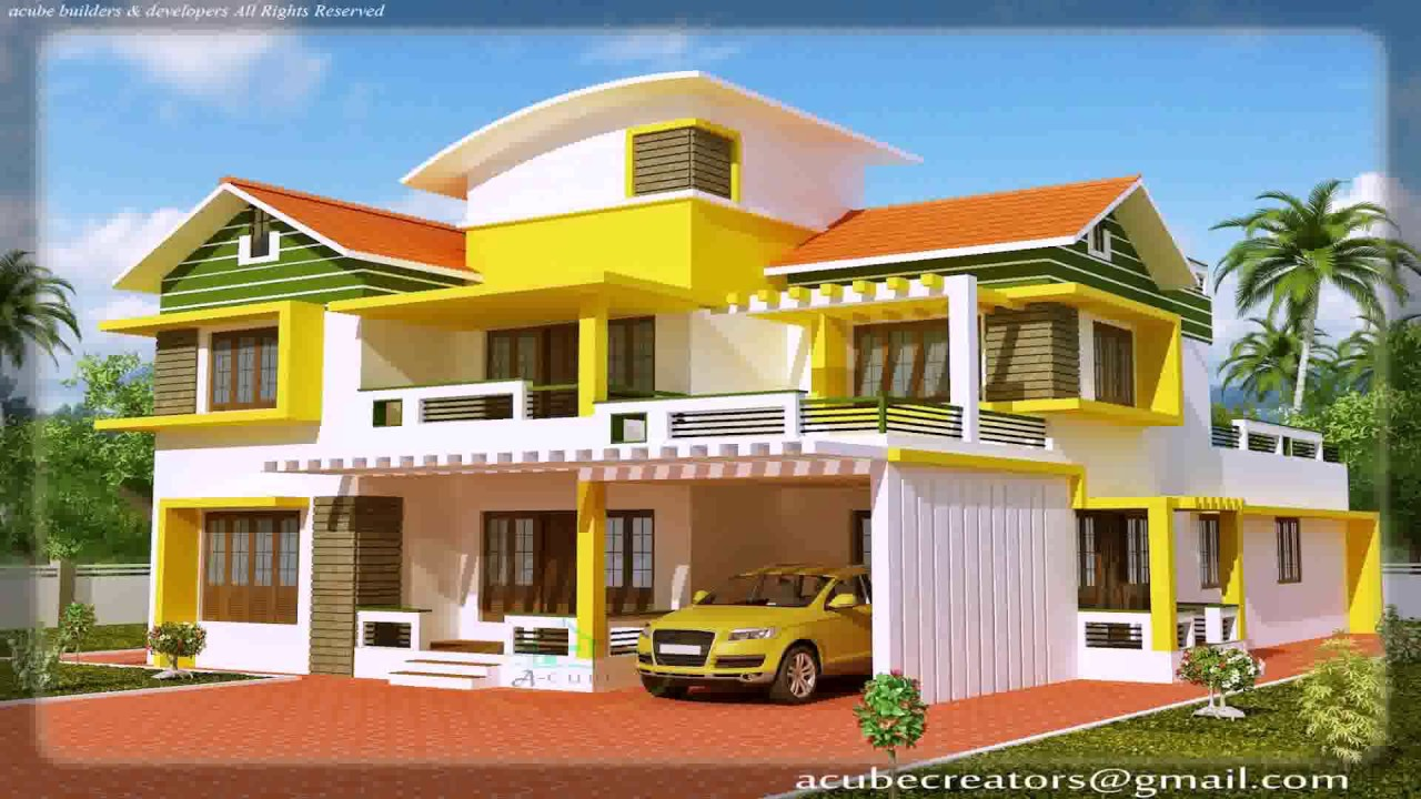 Kerala style new model house youtube for New house styles pictures