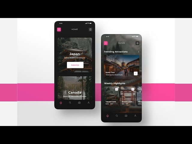 Flutter UI - Minimal Designs - Travel and Explore