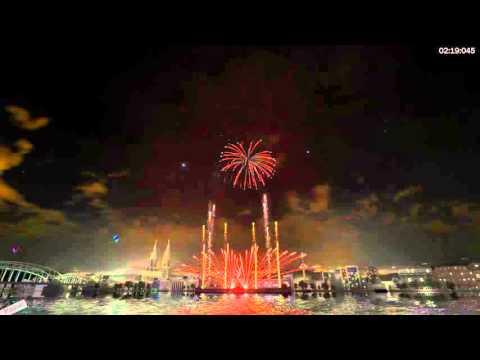Firework Simolator [Lady Gaga-Applause] Song.