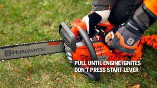 How to start a top handle chainsaw