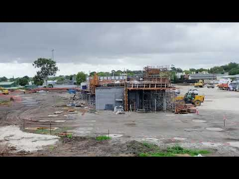 Wulanda Recreation and Convention Centre - Construction Time-lapse November 2020 to March 2021