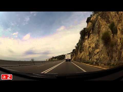 SH&R. N-II Radial Road. Palafolls to Mataró. Across coast line.