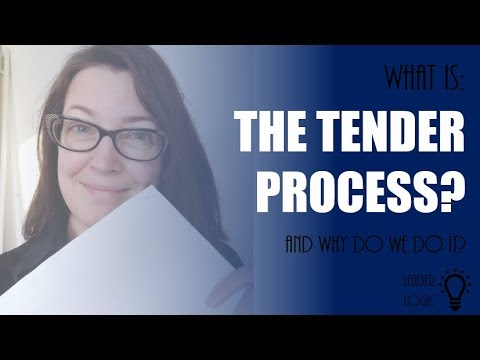 What is the Tender Process?