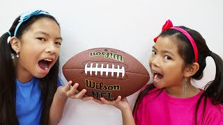 Emma and Wendy Pretend Play Real vs Fake Food Chocolate Challenge | Kids Toys Tools & Football