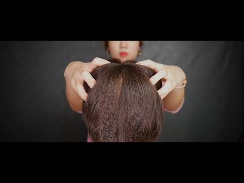 [ASMR] Hair brushing, cutting and head massage ASMR | Binaur