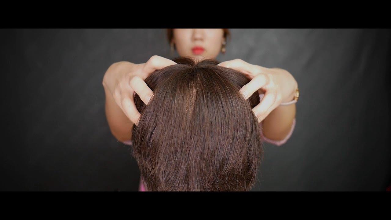 [ASMR] Hair brushing, cutting and head massage ASMR ...