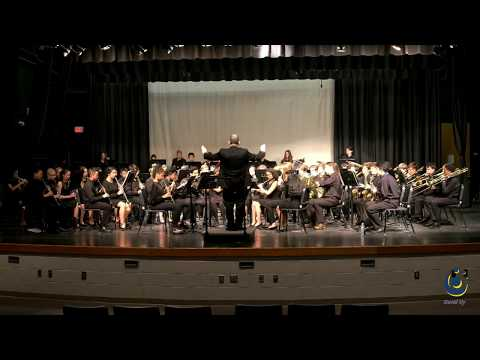 Davis Drive Middle School 8th Grade Band performs National Emblem on 3/19/2019