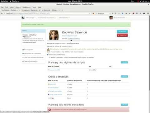 paramétrage d'un utilisateur à temps partiel