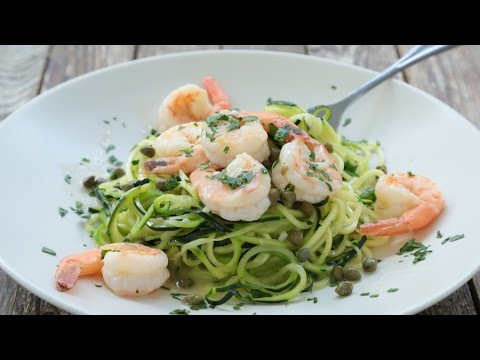 How to Make Shrimp Piccata with Spiralized Zucchini Noodles