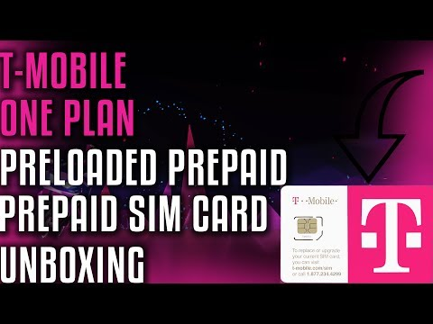 T-Mobile One Plan Preloaded Prepaid SIM Card Unboxing
