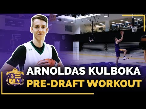 Capo d'Orlando Forward Arnoldas Kulboka's Lakers Pre-Draft Workout