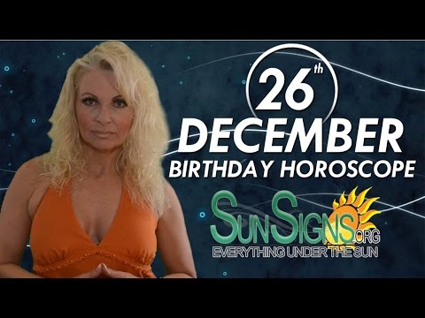 Birthday December 26th Horoscope Personality Zodiac Sign Capricorn Astrology