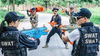 LTT Game Nerf War : Couple Warriors SEAL X Nerf Guns Fight Inhuman Group Arsenal Bandits