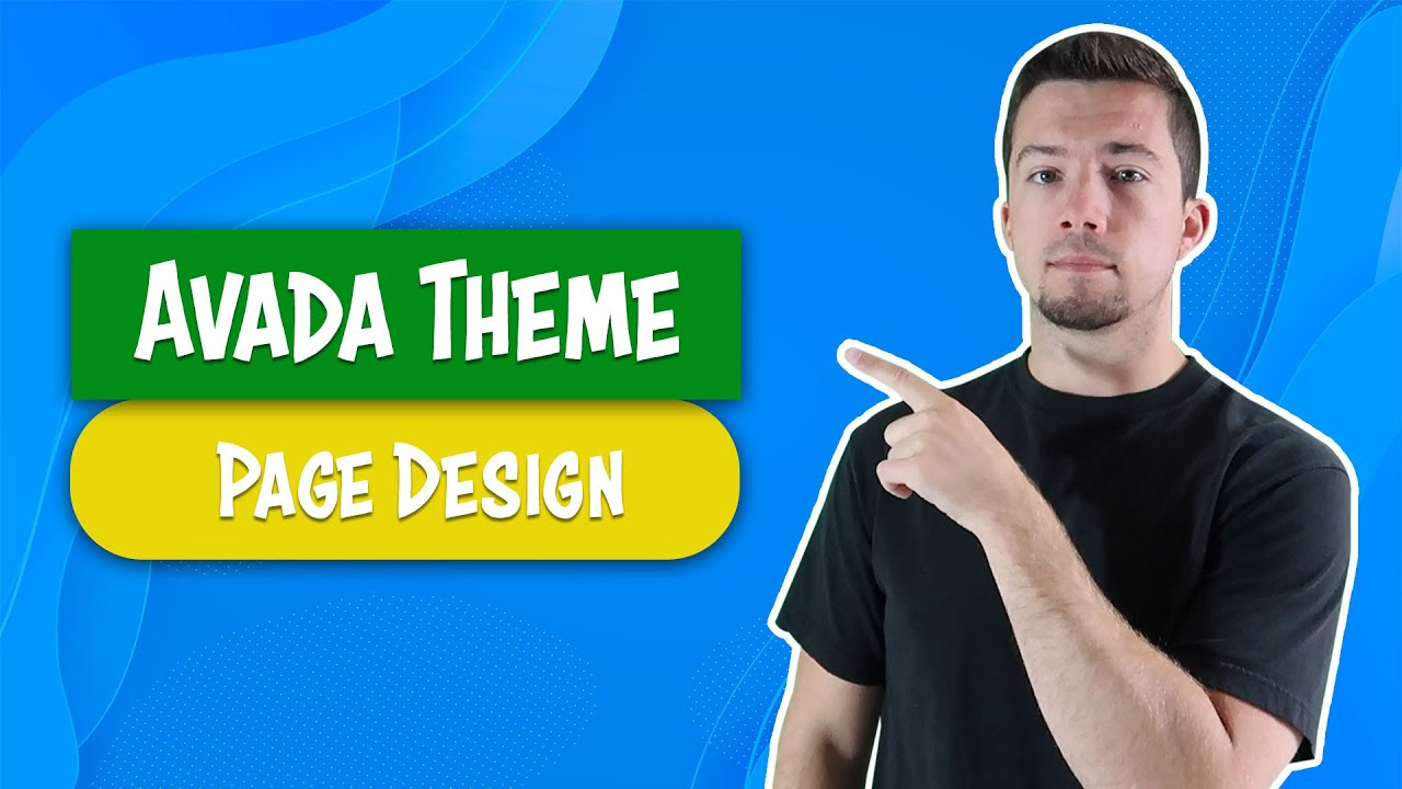Avada Theme - Example Page Design Template - YouTube