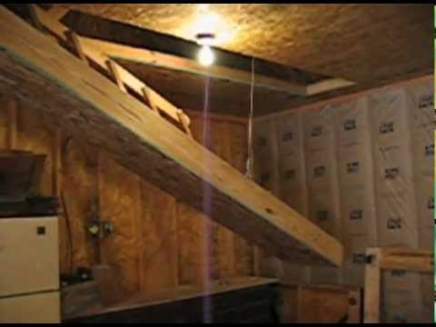 Hide Away Electric Drop Down Stairs Youtube