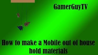How to Make a mobile out of house hold materials | DIY | E4