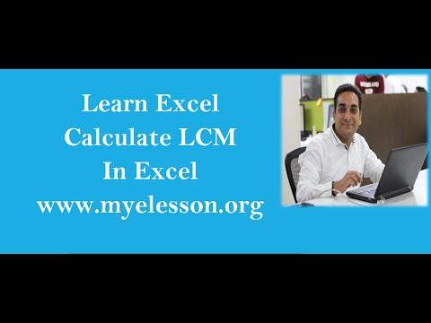 Find LCM In Excel