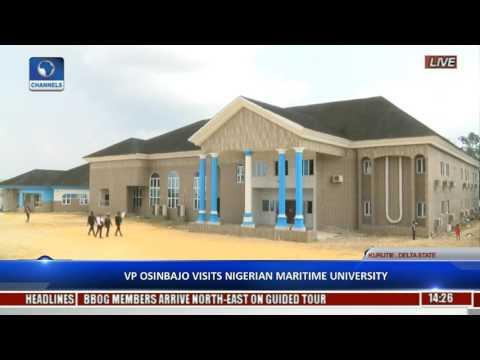VP Osinbajo Visits Nigerian Maritime University Pt 1
