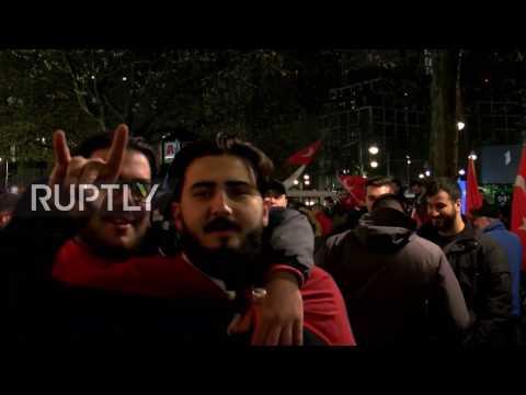 Germany: Berlin's Turkish pro-Erdogan community celebrates 'YES' result in referendum