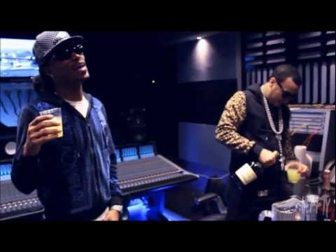 French Montana  & Future in studio working on a beat made by Helluva