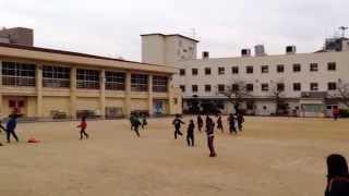 2014東三国小学校連合年末大掃除&焼き芋&かけっこ大会