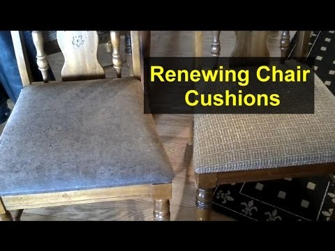 Re-cover chair cushions with new material – Home Repair Series